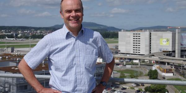 Rudolf Landolt, Leiter der Energieversorgung der Flughafen Zürich AG, sieht in der Wärme-Kraft-Kopplung eine effiziente Nutzung von Primärenergie.
