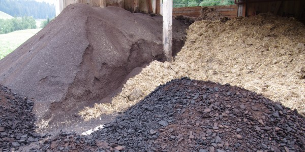 Als Co-Substrate werden unterschiedliche Abfälle angeliefert.