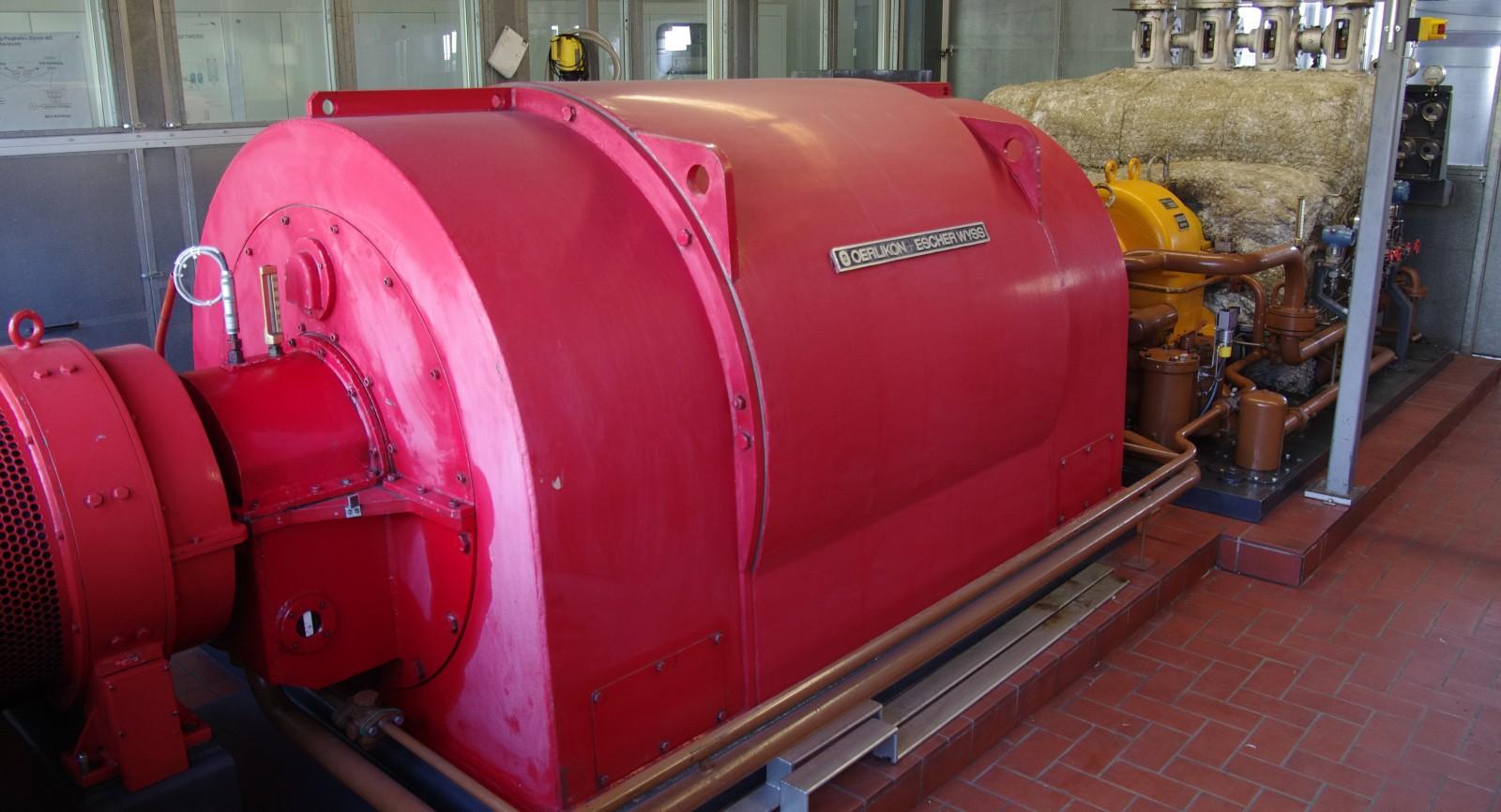 Dampfturbinen sind für die Stromproduktion im Einsatz.