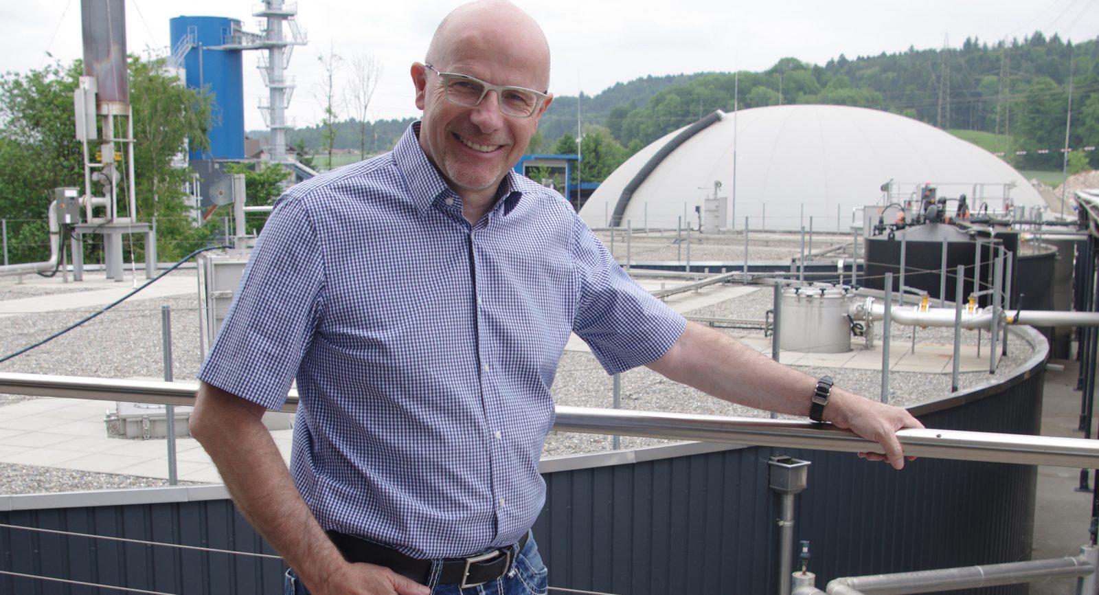 Werner Humbel: «Die Natur kennt keine Abfälle. Deshalb können wir auch mit unseren Anlagen nachhaltige Kreisläufe bilden.»