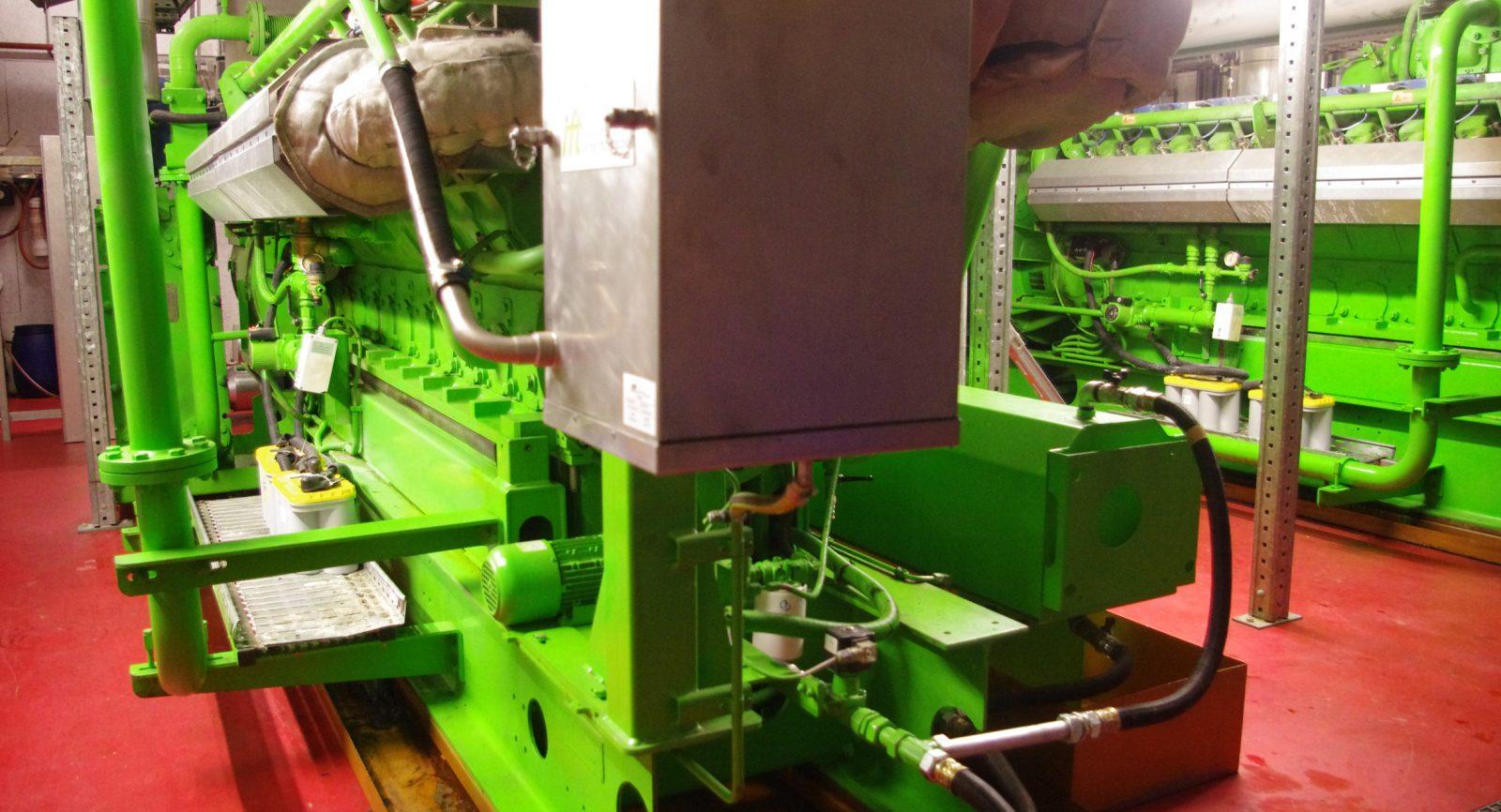 Zwei Blockheizkraftwerke dienen der Verwertung des Biogases zu Wärme und Strom.
