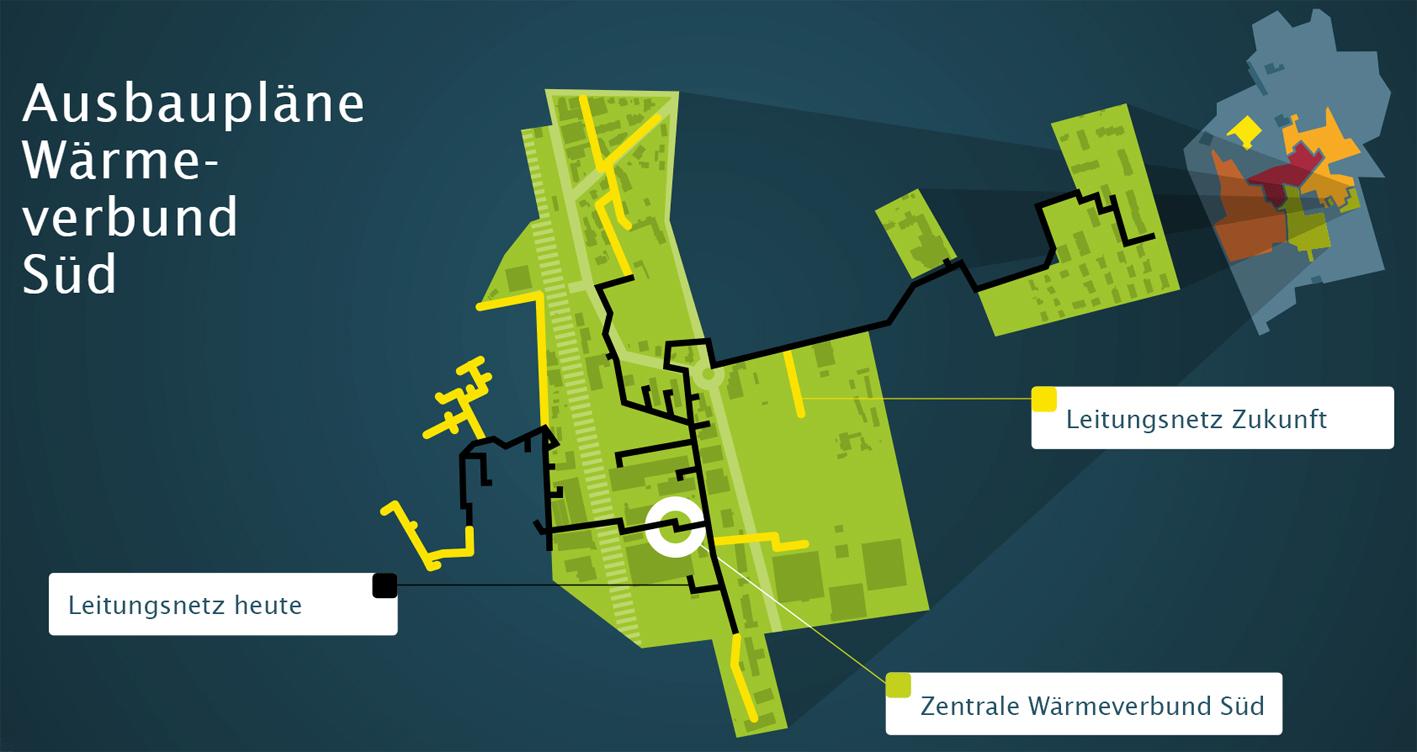 Der Wärmeverbund Süd ermöglicht für Münsingen weitere Ausbauoptionen.