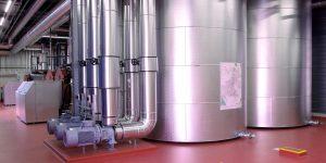 La centrale de cogénération affiche une puissance thermique maximale de 1600 kW et une puissance électrique maximale de 1000 kW.