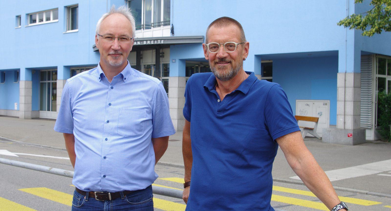 Adrian Kummer (rechts) und Bernhard Schmocker (ADEV) sind von den Qualitäten einer effizienten Wärme-Kraft-Kopplung überzeugt.