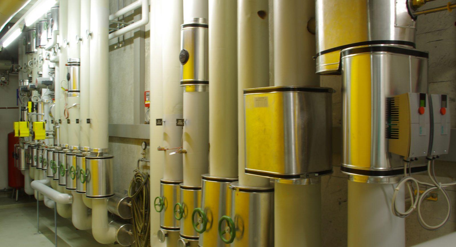 Wärmeverteiler für das Alterszentrum und den ange-schlossenen Wärmeverbund.