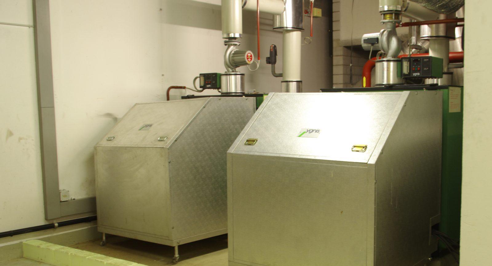 Zur Sicherung der nötigen Redundanz und für Zeiten eines Spitzenbedarfs stehen noch zwei Gaskessel zur Verfügung.