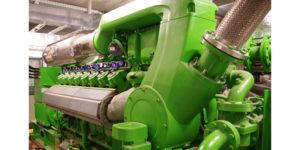 Der installierte Gasmotor arbeitet mit 16 Zylindern und erreicht elektrische und thermische Leistungen von fast 1200 kW.