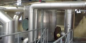 Oberster Bereich der Gasfeuerung: Im Verbund mit dem Gasmotor kann eine flexible Betriebsweise gefahren werden.