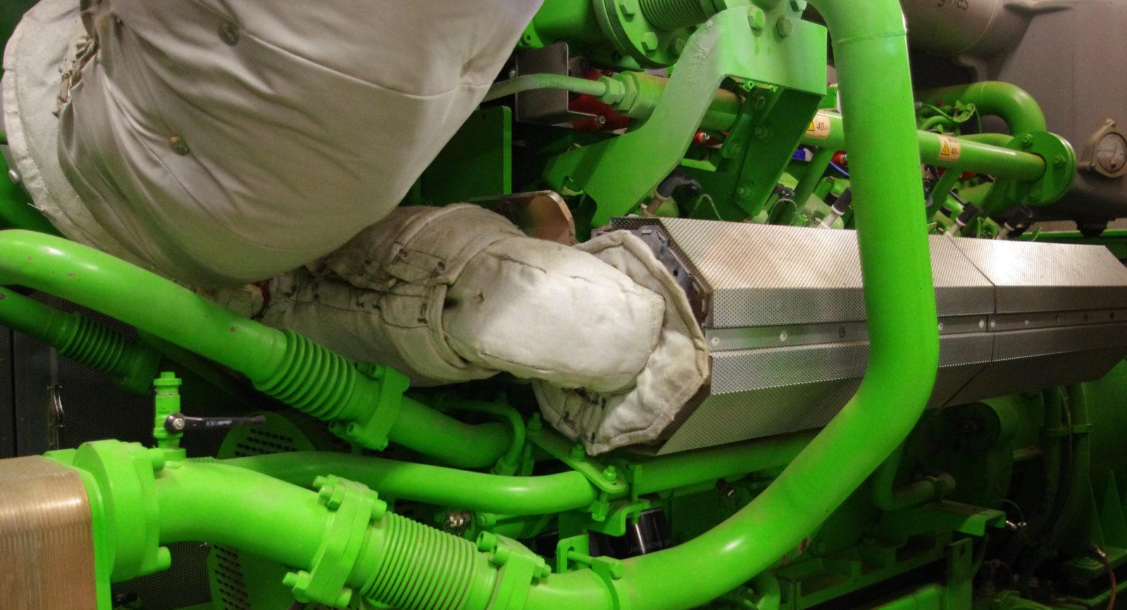Der 12-Zylinder-Motor der Jenbacher Baureihe 3 hat bei der Evaluation überzeugt. Heute liegt die Auslastung bei 96 Prozent.