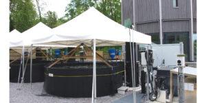 Im Rahmen der Realisierung der 4. Reinigungsstufe wurde zur Demonstration der Abwasserqualität eine Fischzucht erstellt.