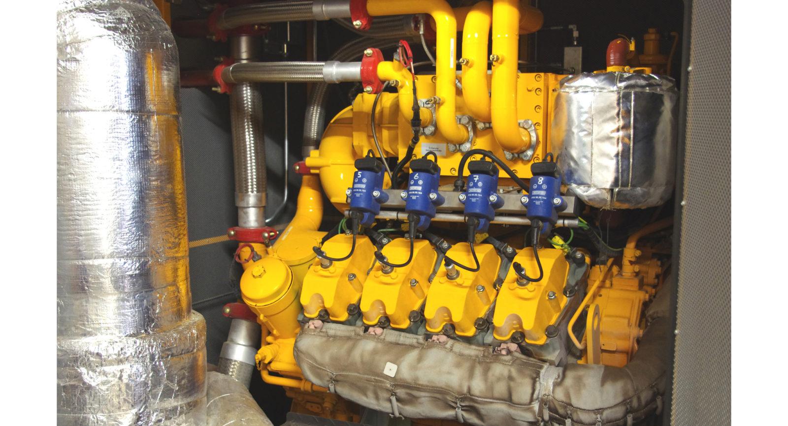 Die eingesetzten Gasmotoren profitieren heute von modernster Technik zur Verminderung des Schwefelanteils im Biogas.