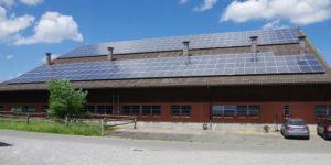Neben der Biogasproduktion kommt auch die Photovoltaik zur Stromerzeugung zum Einsatz.